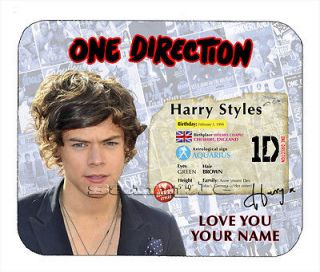 Item#569 Harry Styles CUSTOM NAME  Facsimile Autograph Mouse Pad