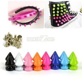 Punk Rock DIY Studs Rivet Cone Pyramid Nailhead Bag Leathercraft Spike