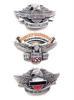 HARLEY DAVIDSON MOTORCYLES BELT BUCKLES. AMERICAN LEGEND, Silver Eagle