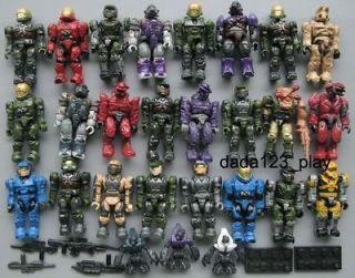 15 PCS Mega Bloks Halo Reach Figure Master Cheif Spartan Grunts