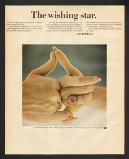 1967 Linde Stars Claret Red Star Sapphire Ring Print Ad