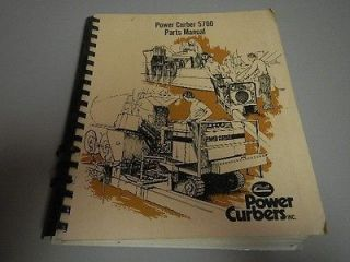 Power Curber 5700 Curb & Gutter Machine parts catalog manual