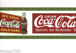 Genuine Vintage Collectible Coca Cola Coke Bottles Red Green Wall