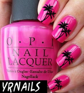 Nail WRAPS Nail Art Water Transfers Decals   Palm Trees   S069