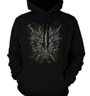 Dragon Head Sweashir Armored Mask Swords Sliver aoo Pullover