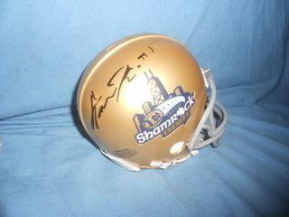 Notre Dame Irish GUNNER KIEL signed Shamrock Series Mini Helmet