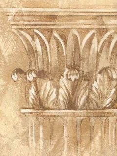 Sale$ Architectural Golden Crown Molding 60 feet Wallpaper Border 1034