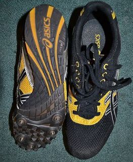 ASICS MEN TRACK SHOES W/METAL SPIKES SZ 9, MINT CONDITION