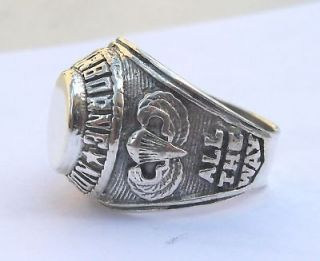 SILVER 925 SPECIAL FORCES 82nd AIRBORNE DIVISION RING