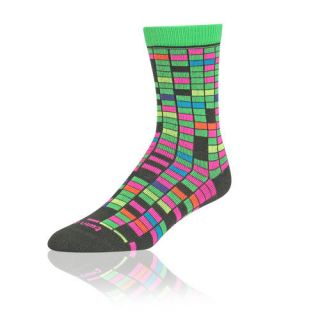 Krazisox Neon Digital Elite Socks, Neon Yellow/Neon Green/Hot Pink