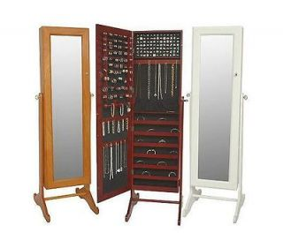 Gold & Silver Safekeeper Mirrored Jewelry Cabinet by Lori Greiner box