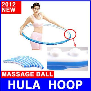 Sports MASSAGE hula hoop 1.6LB weighted exercise fitness diet workout
