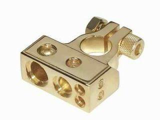 Raptor Negative Gold plated Battery Terminal 1ea 1/0 & 1ea 4 2ea 8