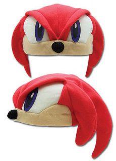 Official Licensed Sonic Hedgehog Sonic Fleece Cap   Knuckles (#2308)