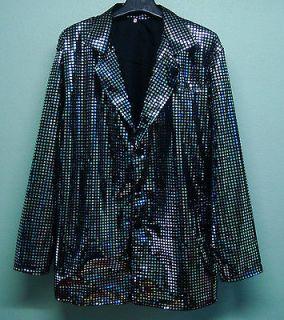 Men Cabaret Singer Disco Fancy Party Glitter Stage Sequin JACKET