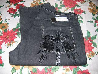 KARL KANI GOLD Raw Black Denim Blue Jeans Men's Size 38/34 Pant