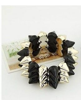 Hot Selling Fashion Noble Black&Golden Bullet Shape Bracelet SZ120331