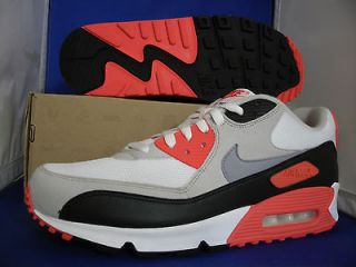 Nike Air Max 90 Infrared SZ 14 WHITE CEMENT GREY BLACK ( 325018 107 )