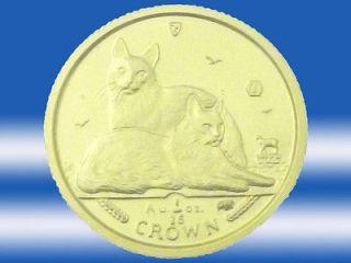 ISLE OF MAN 2011 TURKISH ANGORA CAT 1/25oz GOLD BULLION COIN