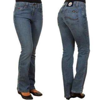 Pittsburgh Steelers Ladies Cheerleader Boot Cut Jeans With 33 Inseam