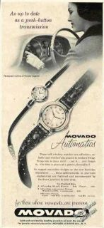1957 Movado Automatic Watches Collectible Vintage Ad