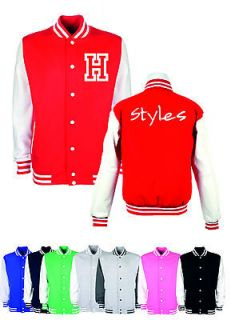 HARRY STYLES One Direction 1D Inspired Varsity Baseball College