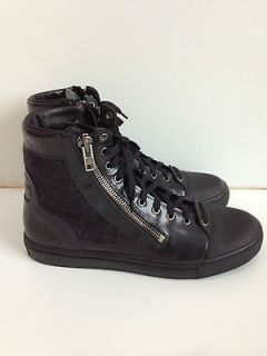 Maison Martin Margiela Mens Para High Top Sneaker Black Lace Up Zip