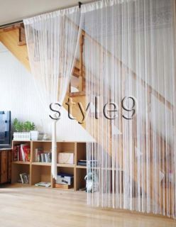 String Curtain Fringe Panel Decoration Room Divider20 Color Choices
