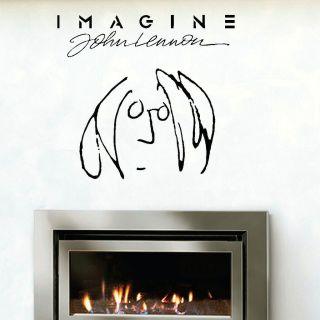LARGE JOHN LENNON IMAGINE ICONIC IMAGE WALL ART STICKER STENCIL
