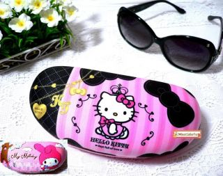 Choice♥Sanrio Pink Eye Sun Glasses Hard Case Box Holder w/Cleaning