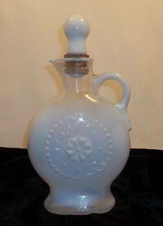 1957 Vintage Opalescent Collectibles Jim Beam Decanter White Milk