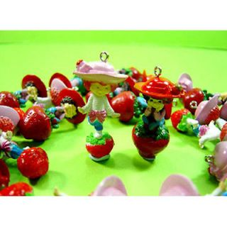 20 x Strawberry Shortcake Jewelry Making Figures Pendant Charms
