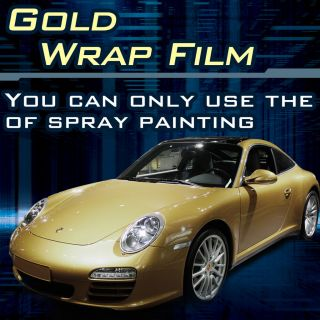 Gold Silver Chrome Vinyl Film Wrap Roll Roof Sticker Sheet Tint Print