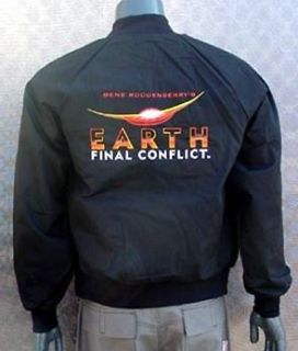 Earth Final Conflict Black Jacket  SMALL