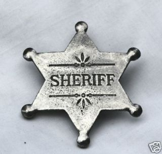 SHERIFF STAR OLD WEST BADGE OBSELETE 17
