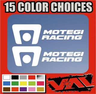 Two Motegi Racing Wheels Vinyl Stickers decals imports show street