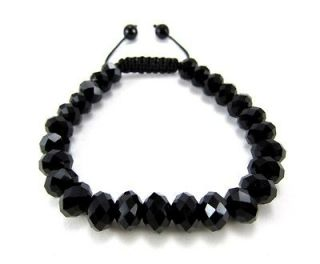 RICK ROSS BLACK GLASS HIPHOP FACETED DIAMOND CUT CRYSTAL BEADED