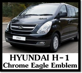 2007+ HYUNDAI H 1 i800 iMax iLoad H1 Eagle Chrome Black Emblem Set