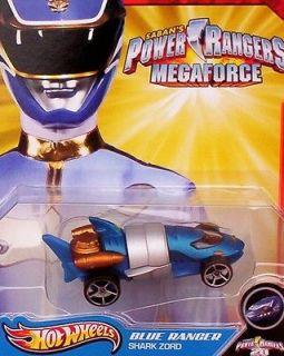 HOTWHEELS **BLUE RANGER (SHARK ZORD)** 2012 POWER RANGERS