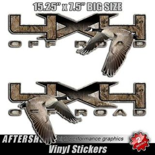 Goose decal sticker 4x4 truck camo camouflage hunting