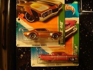 Hot Wheels 2011 Treasure Hunts 68 Olds 442 + 58 Impala