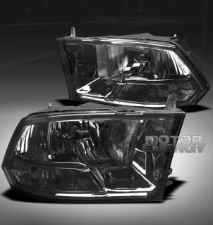 2009 2012 DODGE RAM PICKUP CRYSTAL HEADLIGHT LAMP SMOKE 2010 2011 1500