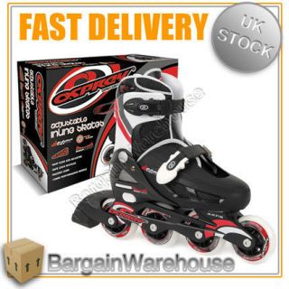 OSPREY ADJUSTABLE BOYS & GIRLS 4 WHEEL INLINE ROLLER SKATES BLADES
