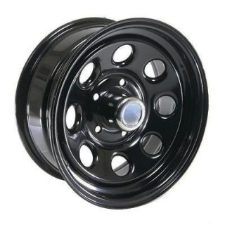 Cragar Soft 8 Black Steel Wheels 16x7 5x135mm BC Set of 5 (Fits