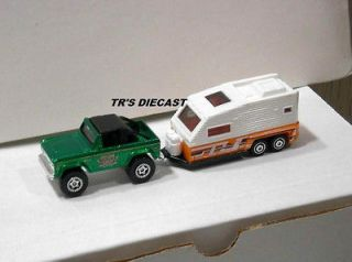 MATCHBOX 1972 FORD BRONCO WITH 2012 CAMPER/TRAVEL TRAILER MB 55TH ANN