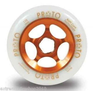 PROTO GRIPPER Wheels 110mm   PRO SCOOTER WHEEL   White On ORANGE