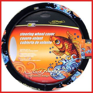 Ed Hardy Koi Auto Steering Wheels Cover Car/Truck/Boat