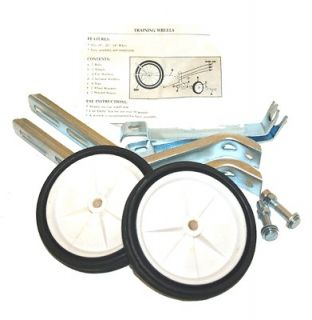 listed Bicycle Training Wheels For 16   20 Bikes   White Wheels