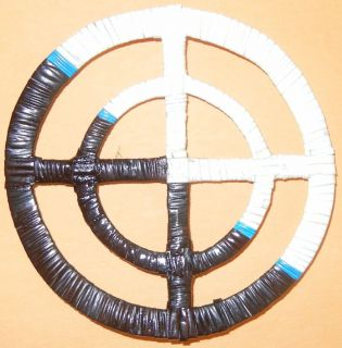 Native American Quilled Double Medicine Wheel.