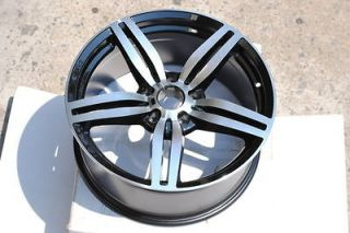 M6 Replicas Black Machine Face Wheels Staggered Rims 20 ET 5x120mm